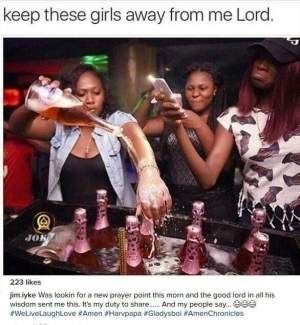 "Photo: ""I Pray To Avoid Girls Like These"" - Jim Iyke"